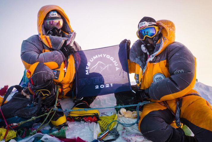Heimir og Sigurður á toppi Everest 24. maí.