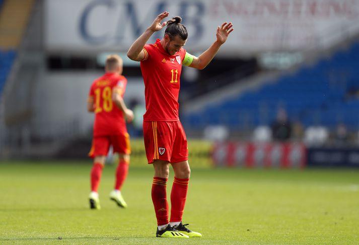 Bale í leik með Wales á dögunum.