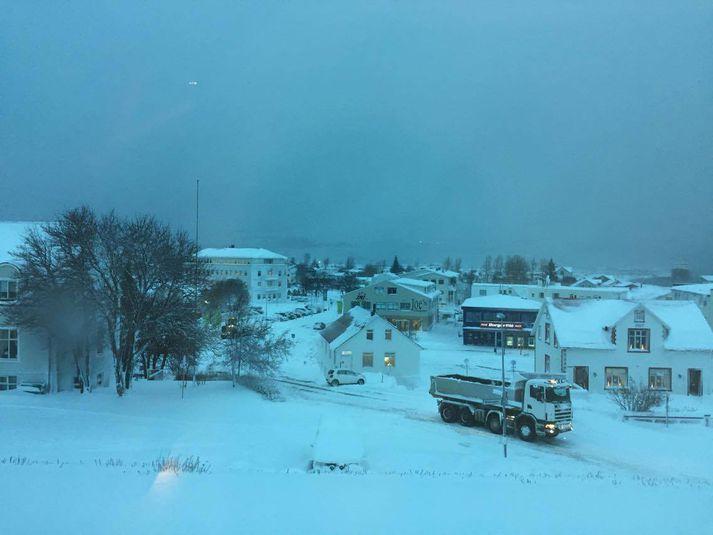 Akureyri nú á ellefta tímanum í morgun.
