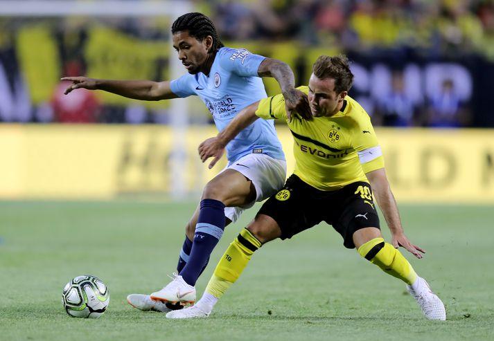 Luiz í leik á undirbúningstímabilinu með City.