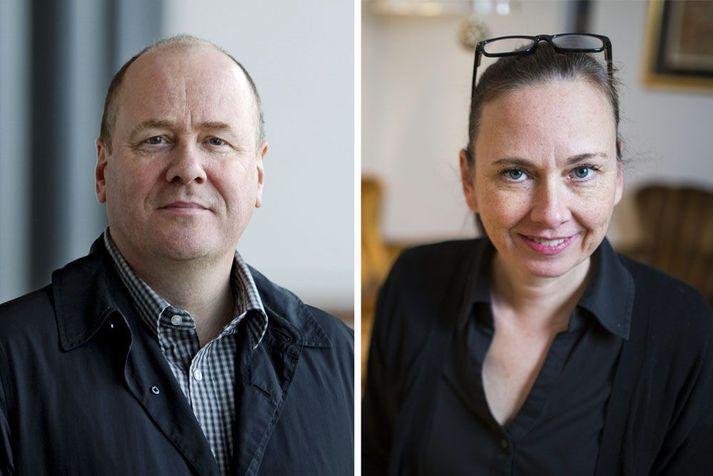 Glæpasagnahöfundarnir Arnaldur og Yrsa komu bæði til greina í ár.