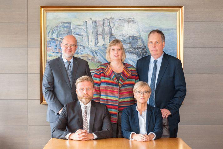 Í peningastefnunefnd sitja Ásgeir Jónsson, formaður, Rannveig Sigurðardóttir, Þórarinn G. Pétursson, Katrín Ólafsdóttir og Gylfi Zoëga.