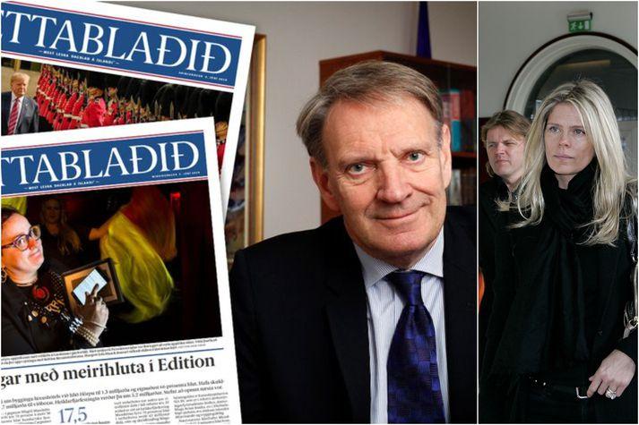 Helgi Magnússon og Ingibjörg Pálmadóttir sitja tvö í stjórn Torgs.