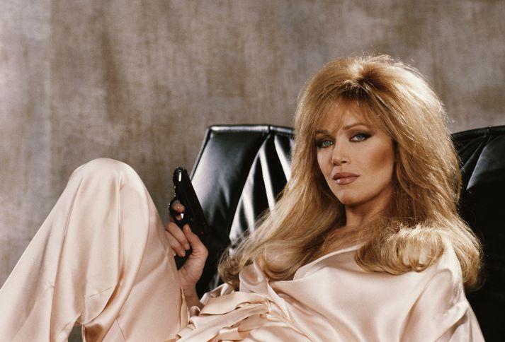 Roberts í hlutverki Bond-stúlkunnar Stacey Sutton í A View to A Kill árið 1984.