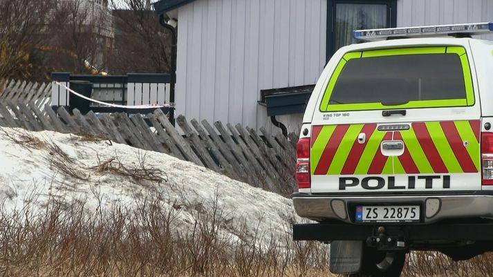 Frá vettvangi í Mehamn í Norður-Noregi.