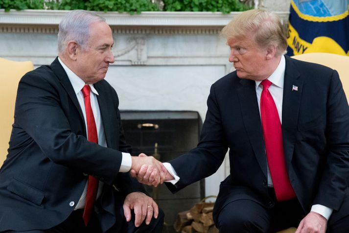 Benjamin Netanyahu, forsætisráðherra Ísrael, og Donald Trump, forseti Bandaríkjanna.