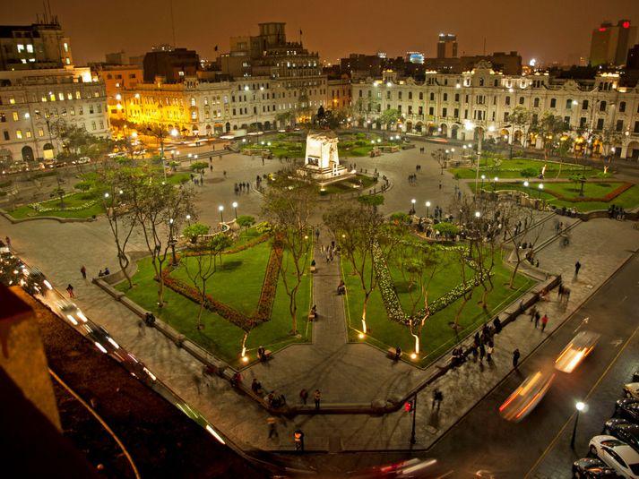 Frá miðborg Lima, höfuðborg Perú.