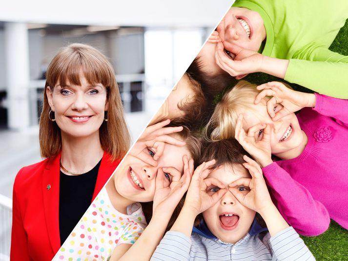 Bryndís fer yfir ADHD meðal stelpna í fyrirlestri dagsins.