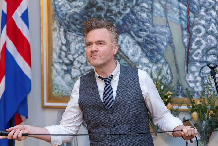 Jónas Sigurðsson tónlistarmaður á Bessastöðum 2020.
