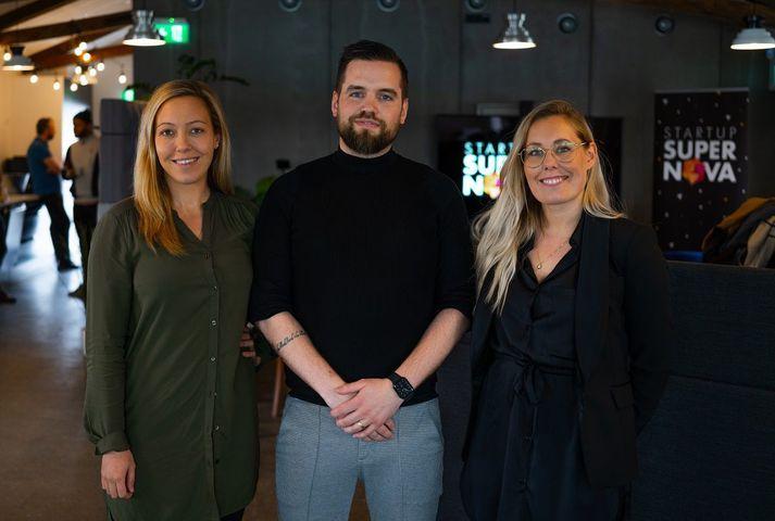Elsa Bjarnadóttir, Atli Björgvinsson og Edit Bjarnadóttir.