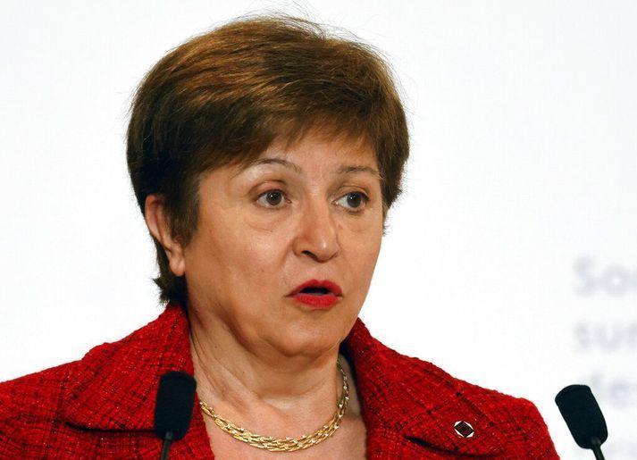 Kristalina Georgieva, framkvæmdastjóri Alþjóðagjaldeyrissjóðsins.