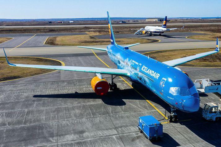 Á sjötta þúsund fóru með Icelandair frá Íslandi í síðasta mánuði. Á sama tímabili í fyrra voru brottfararfarþegar 1.600.