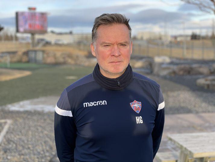 Heimir Guðjónsson, þjálfari Íslandsmeistara Vals.