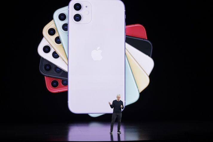 Frá kynningu iPhone 11.