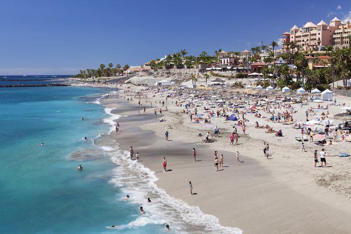 Frá Costa Adeje á Tenerife.