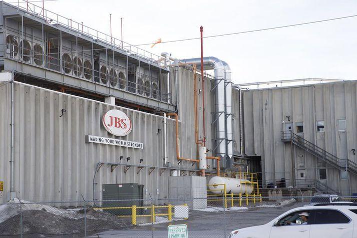 Pökkunarmiðstöð JBS í Marshalltown í Iowa.