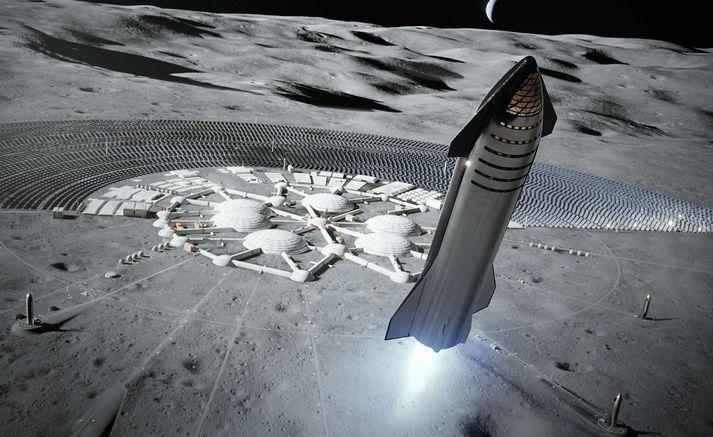 Starship er ætlað að flytja fólk til tungslins, mars og sömuleiðis til farþegaflutninga á jörðinni.