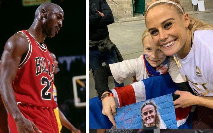 Michael Jordan og Sara Sigmunds.