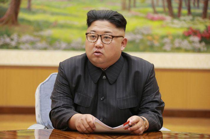 Kim Jong-un, einræðisherra Norður-Kóreu.