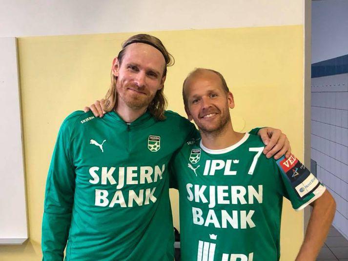Björgvin Páll og Anders Eggert glaðir í bragði.
