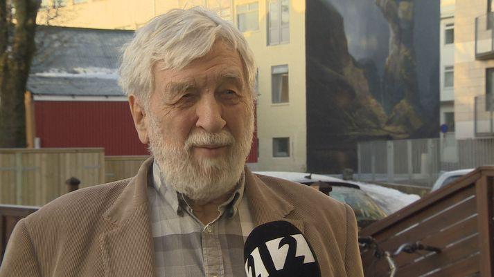 Ragnar Stefánsson jarðskjálftafræðingur í viðtali við Stöð 2 í dag.