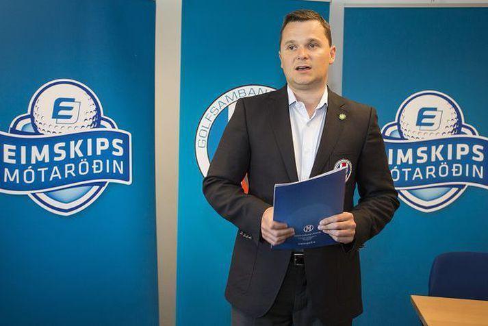 Auk þess að vera forseti Golfsambands Íslands erHaukur Örn Birgisson forseti Evrópska golfsambandsins.