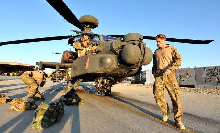 Harry Bretaprins er einn þeirra sem þjónaði herskyldu sinni í Afganistan.