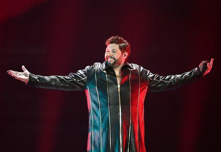 James Newman flutti lagið Embers fyrir hönd Bretlands í Eurovision í ár.