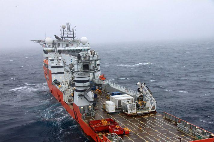 Rannsóknarskipið Seabed Constructor við Íslandsstrendur.