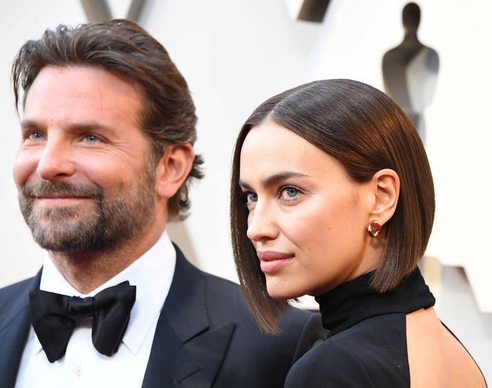 Bradley Cooper og Irina Shayk meðan allt lék í lyndi.
