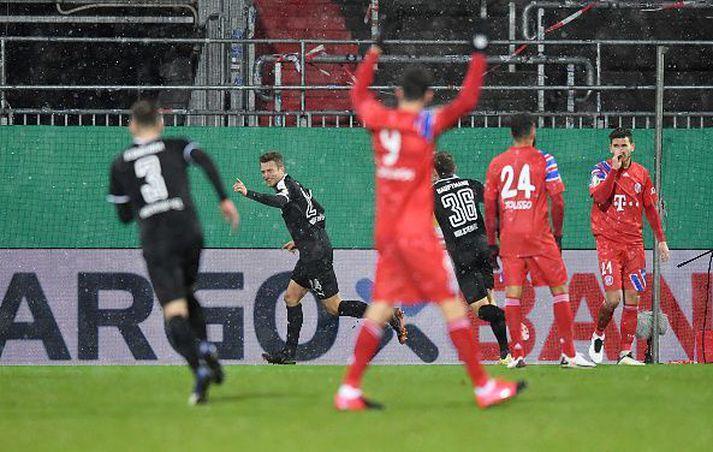 Bayern er úr leik í þýska bikarnum þetta árið.