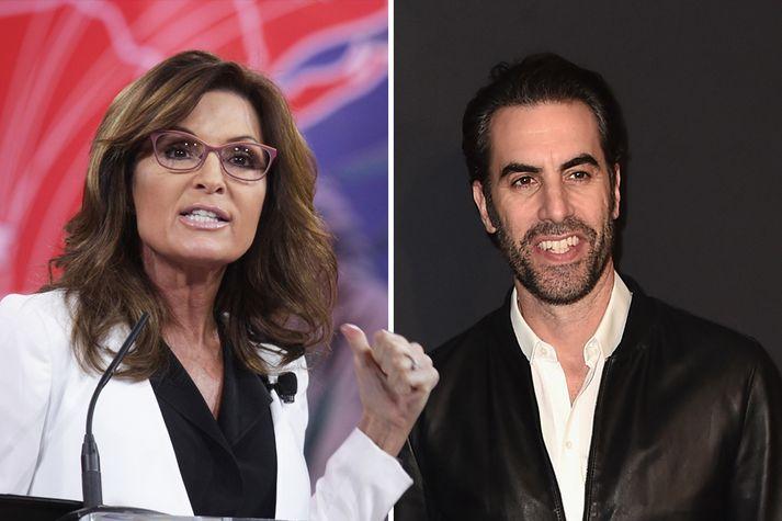 Sacha Baron Cohen hefur ferðast um Bandaríkin og hrellt hina ýmsu stjórnmálamenn, til að mynda Söruh Palin.