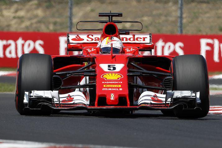 Sebastian Vettel vann sína fjórði keppni í dag.