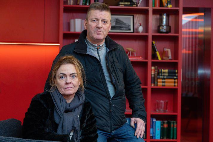 Guðrún Haraldsdóttir og Jón Ingi Gunnarsson foreldrar Heklu Lindar.