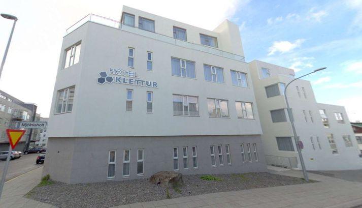 Hótel Klettur við Mjölnisholt í Reykjavík.