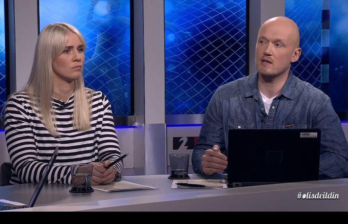 Þorgerður Anna Atladóttir og Ásgeir Jónsson voru sérfræðingar í uppgjörsþætti fyrstu sjö umferðar Olís-deildar kvenna.