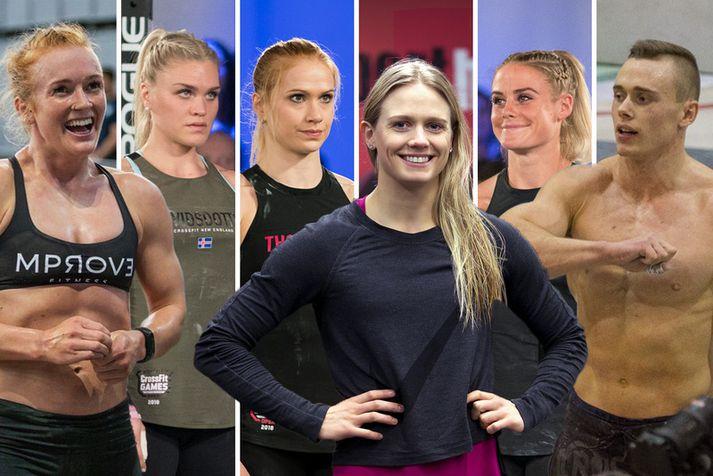 Keppendur Íslands á heimsleikunum í CrossFit 2019.
