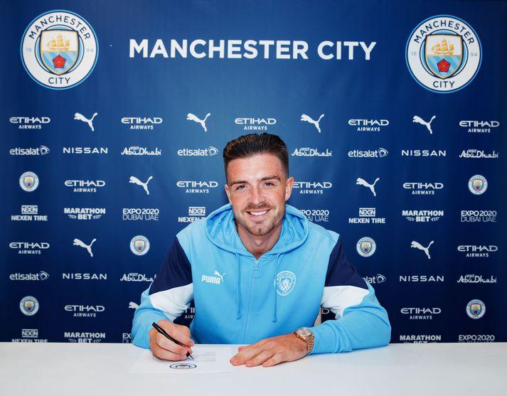Jack Grealish mun leika í treyju númer tíu hjá Manchester City.