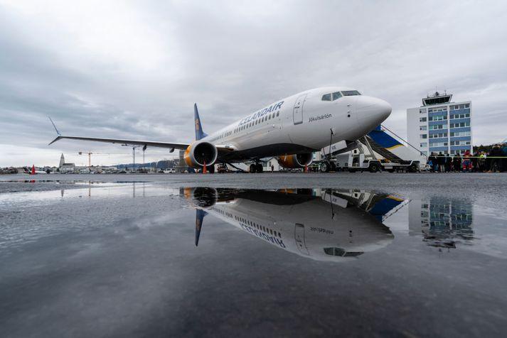 Icelandair hafði í hyggju að nýta þrjár Boeing 737 MAX 8-þotur sínar í áætlunarflugi vestur um haf.