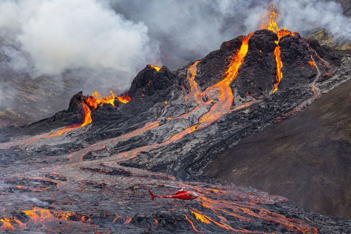 Erupcja w Fagradallsfjall