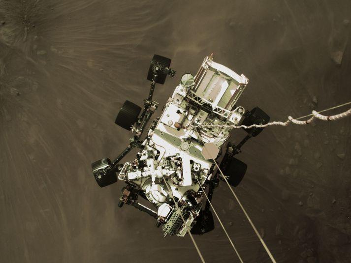 Vélmennið lenti á Mars fimmtudaginn 18. febrúar 2021.