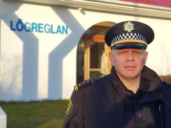Oddur Árnason, yfirlögregluþjónn hjá Lögreglunni á Suðurlandi við lögreglustöðina á Selfossi.