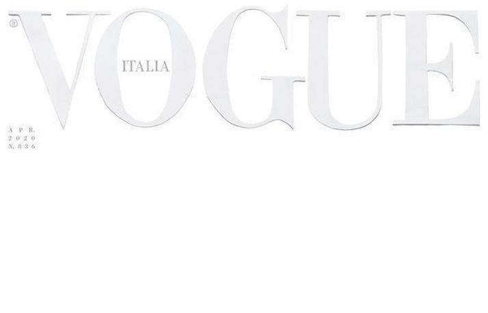 Forsíða aprílútgáfu Vogue Italia er fábrotin.