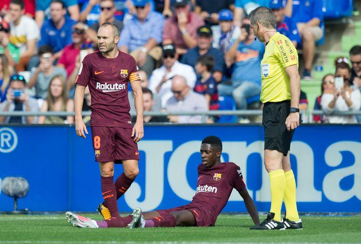 Ousmane Dembele meiddist í leik gegn Getafe 17. september