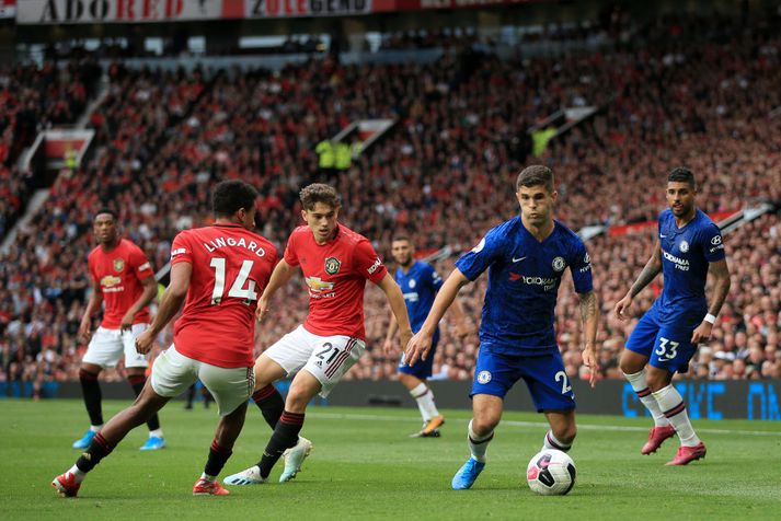 Úr leik Manchester United og Chelsea í ensku úrvalsdeildinni fyrr á tímabilinu