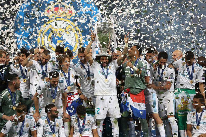 Leikmenn Real Madrid fagna Meistaradeildartitlinum.