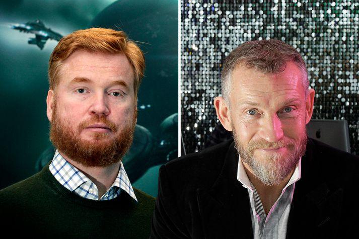 Hilmar Veigar Pétursson, forstjóri CCP, og Björgólfur Thor Björgólfsson en félag hans Novator er stærsti hluthafi CCP