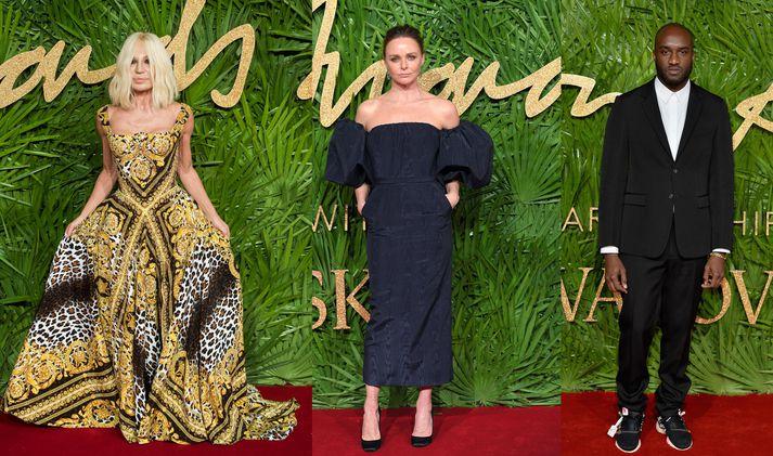Donatella Versace, Stella McCartney og Virgil Abloh