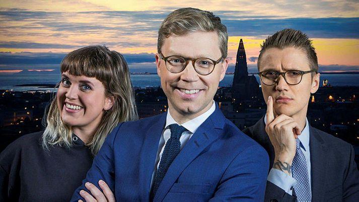 Berglind Pétursdóttir, Gísli Marteinn Baldursson og Atli Fannar Bjarkason.