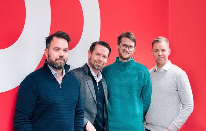 Stofnendur Teatime. Frá vinstri: Ýmir Örn Finnbogason, Þorsteinn B. Friðriksson, Jóhann Þorvaldur Bergþórssin og Gunnar Hólmsteinsson.